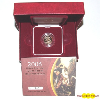 2006 Gold Proof 1/2 Sovereign